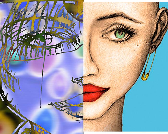Dibujo hecho en Photoshop y derecho a Lápiz de color