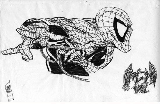 Dibujo superior en papel y dibujo inferior Vectorial